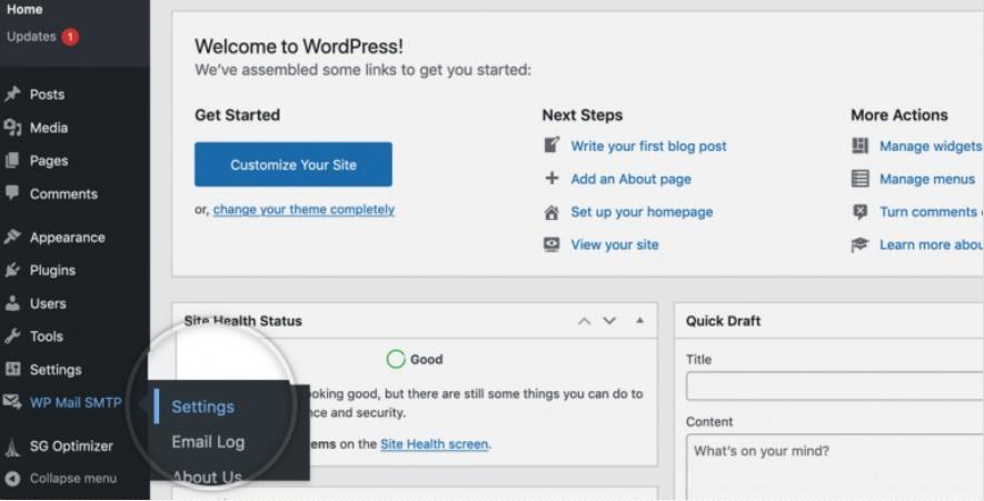 how to change wordpress mail to SMTP